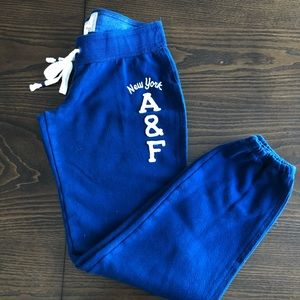 Abercrombie & Fitch Blue Sweatpants Sz Small